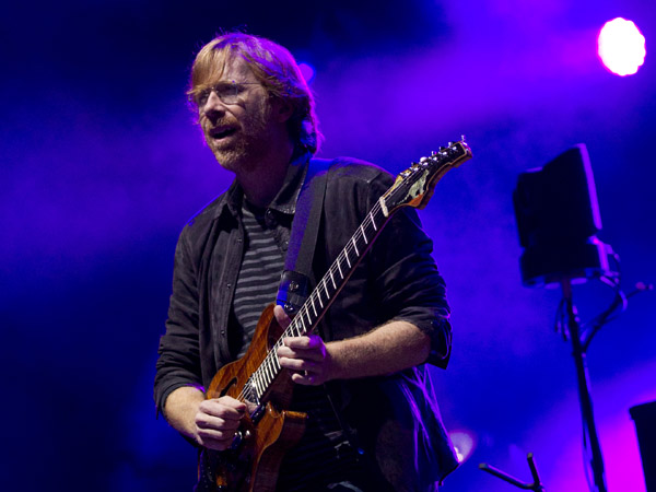 Trey Anastasio of Phish performs during the Bonnaroo Music and Arts Festival in Manchester, Tenn., Sunday, June 10, 2012. (AP Photo/Dave Martin)