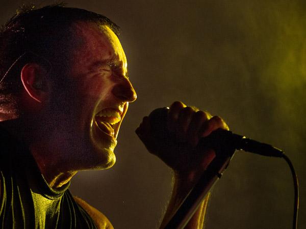 Trent Reznor, lead singer of the band Nine Inch Nails. (AP Photo/Scott Eisen)