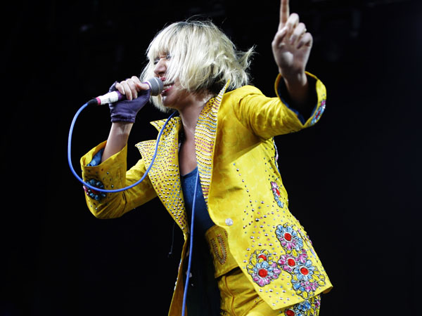 American rock band Yeah Yeah Yeahs performs at the Big Day Out music concert in Sydney Friday, Jan. 18, 2013. (AP Photo/Marilia Ogayar)