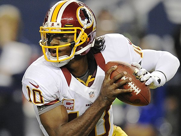 With Robert Griffin III at the helm, the Redskins are now a legitimate threat. (Matt Strasen/AP)