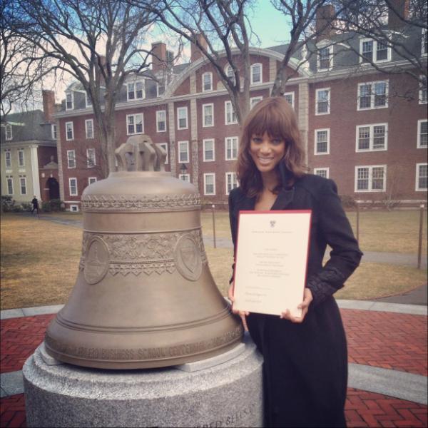 Tyra Banks Graduates From Harvard Business School Program