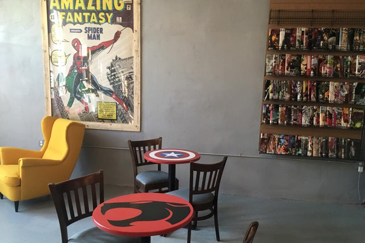 Caffeine and kryptonite new kensington comic book coffee for Todays furniture philadelphia