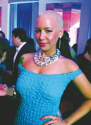 Amber Rose at Virgin America Airlines party in April at Hotel Palomar (Photo: Dan Gross)