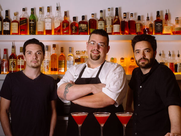 Artist Sean Martorana (left), chef Nick Rada (center) and mixologist Kevin Farrell. (Photo: CJ Dawson)