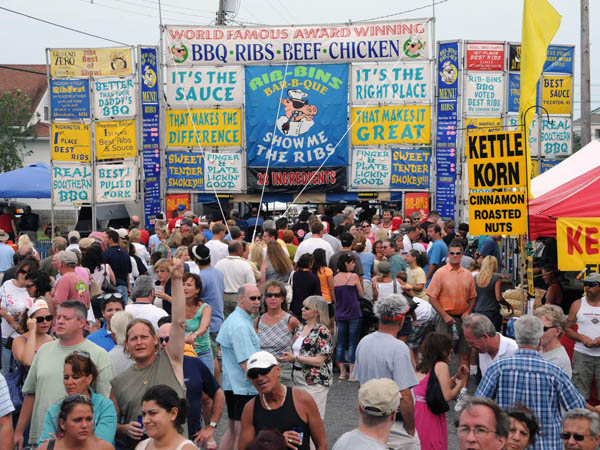 The NJ State BBQ Championship and Anglesea Blues Festival attracts thousands of hungry viewers (photo courtesy of Susian Communications)
