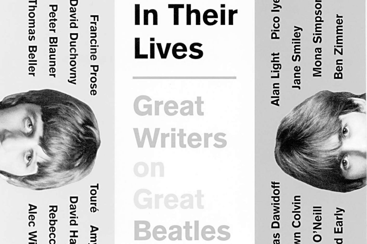 """In Their Lives: Great Writers on Great Beatles Songs."" Detail from book jacket."