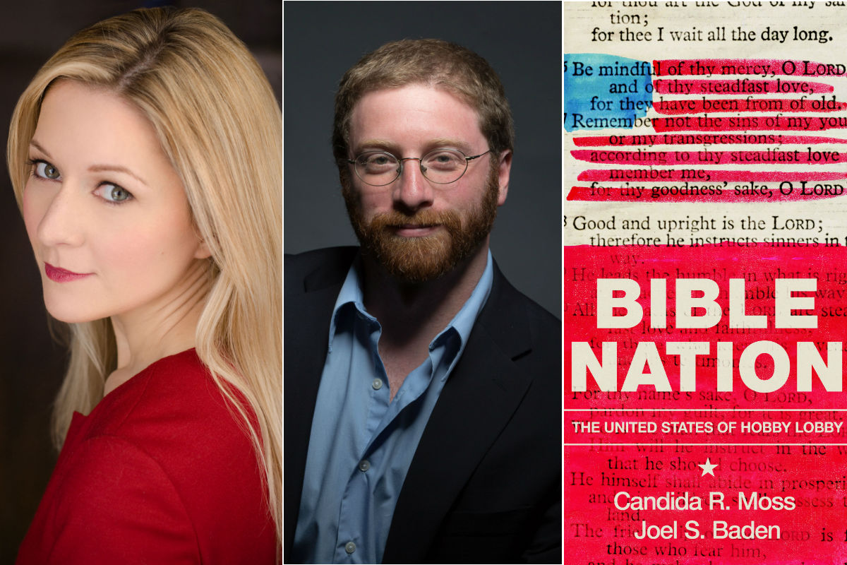 "Candida R. Moss and Joel Baden, authors of ""Bible Nation."""