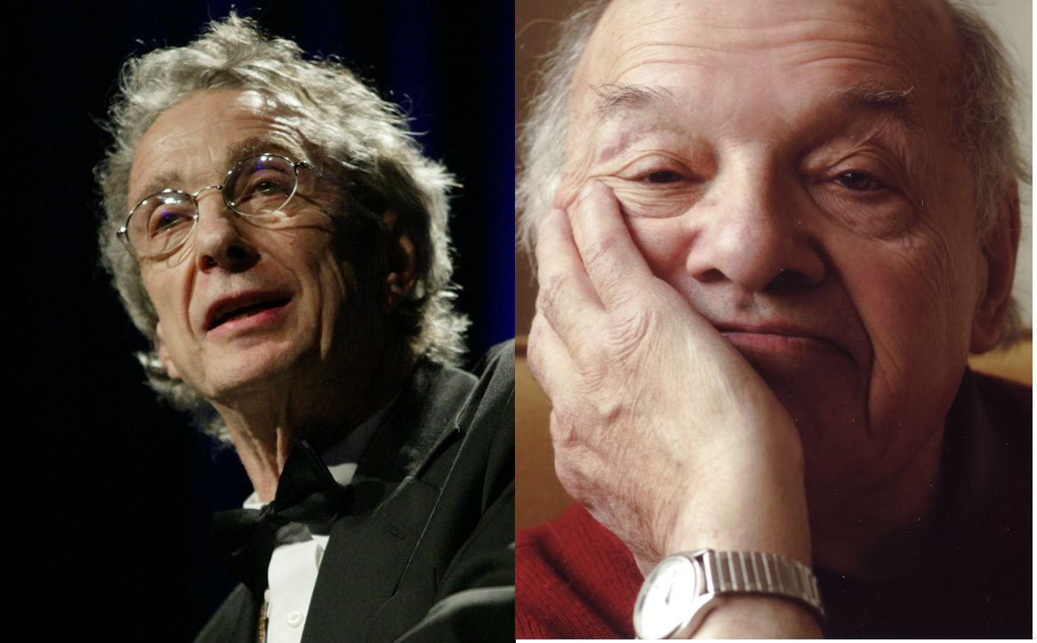 """Left: C.K. Williams, author of the posthumously published poetry collection """"Falling Ill""""; Right: Gerald Stern, author of the memoir """"Death Watch: A View from the Tenth Decade"""""""