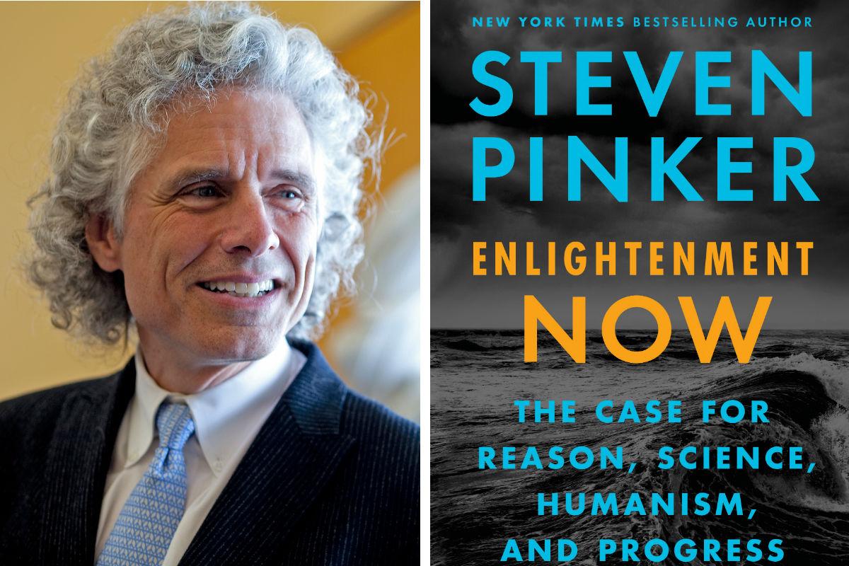 "Steven Pinker, author of ""Enlightenment Now."""