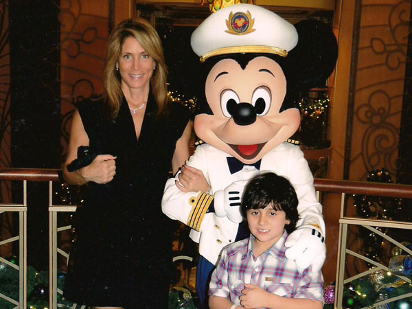 Liz and her son in Disney.