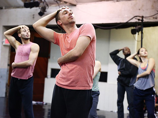 Dancer Joshua L. Peugh rehearses with fellow BalletX members. (Photo: Bill Hebert)