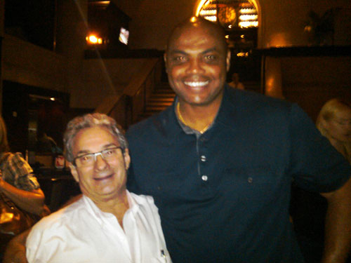 Georges Perrier and Charles Barkley dined together at Del Frisco´s