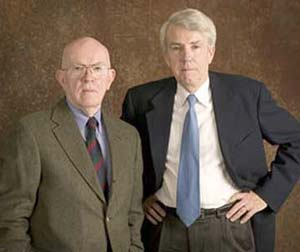 "Donald L. Barlett, left, and James B. Steele are revisiting ""America: What Went Wrong,"" their landmark 1991 series in the Inquirer, in a new project with the Investigative Reporting Workshop. Over the next year, the project team will examine how four decades of public policy has shaped America´s ongoing economic crisis."