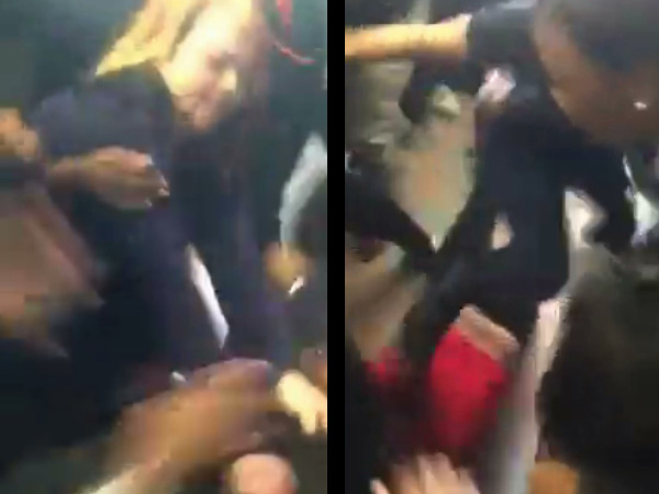 These frame grabs from Tuesday´s melee were taken from the video posted on social media.