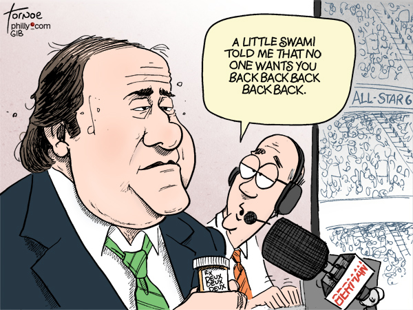 Chris Berman cartoon Deux Deux Deux