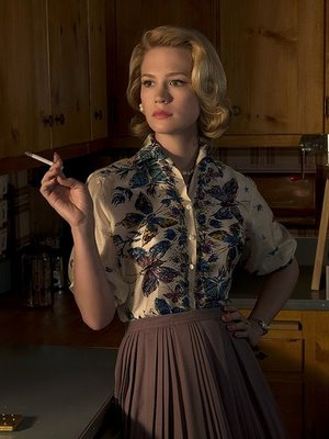 "Betty Draper of ""Mad Men,"" a Main Line native and Bryn Mawr college graduate."