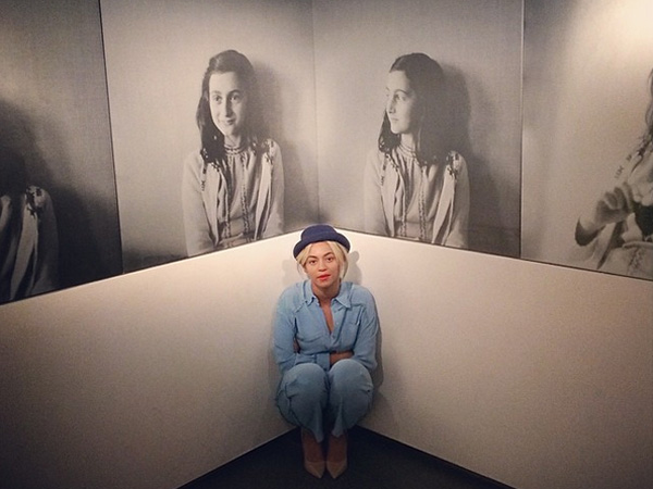 Beyonce visits the Anne Frank House in Amsterdam.