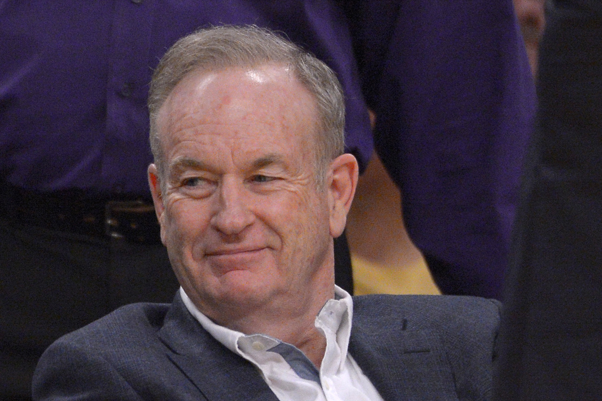 Bill O´Reilly, seen here at a Los Angeles Lakers game in 2013.