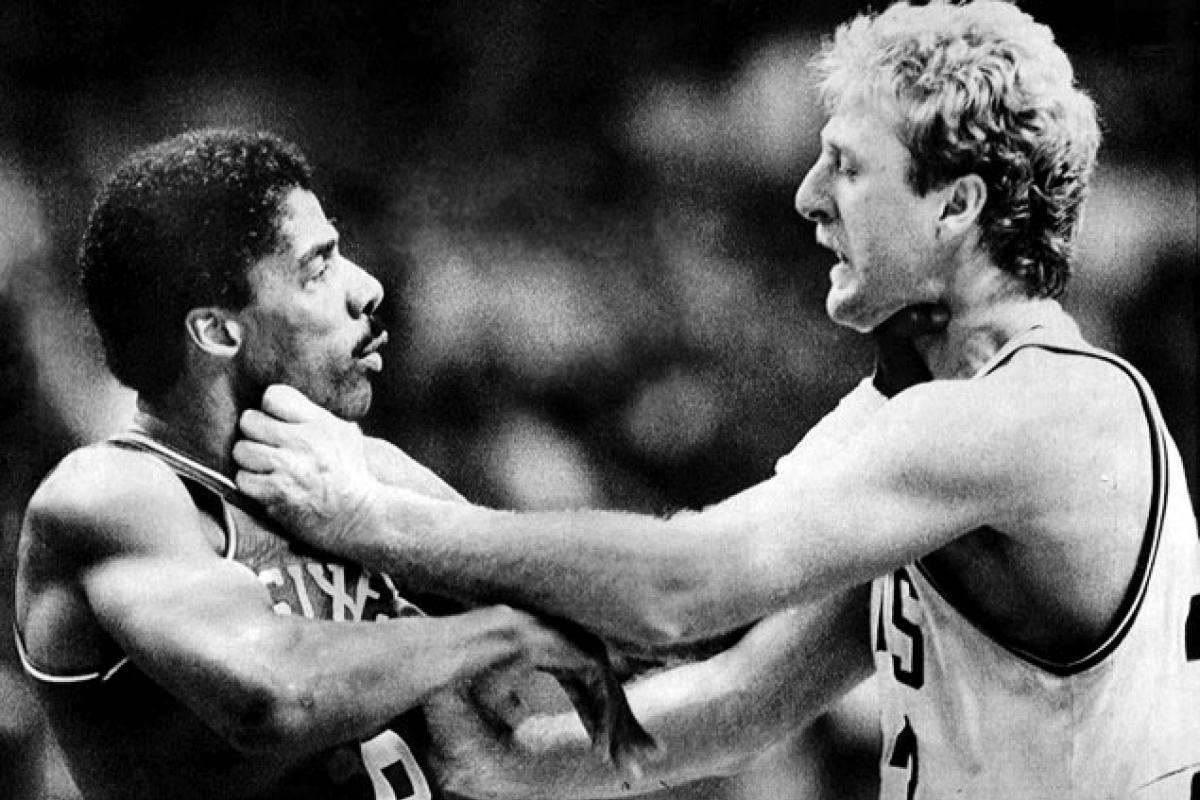 Image result for dr. j vs larry bird