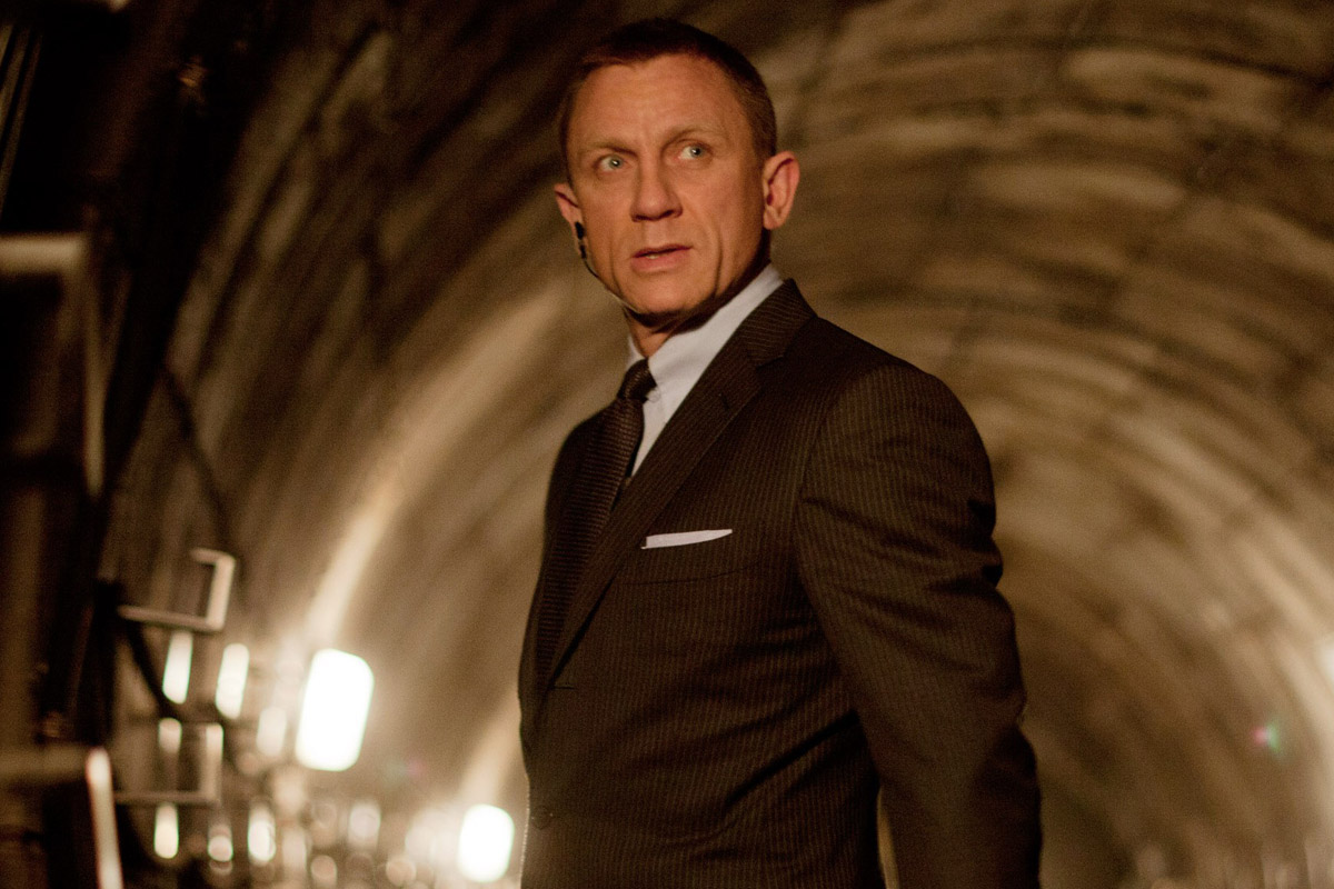 "Daniel Craig as James Bond in ""Spectre."""