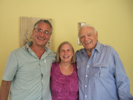 Ernest Borgine with Silverspoon owners Rich and Ruth Silverberg