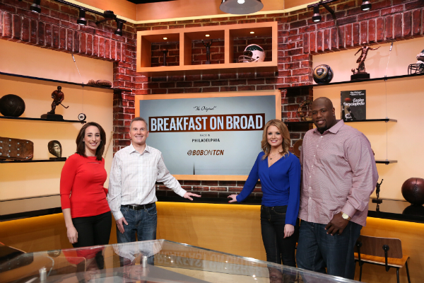 Sarah Baicker, Rob Ellis, Jillian Mele and Barrett Brooks will host the Comcast Network´s ´Breakfast on Broad´