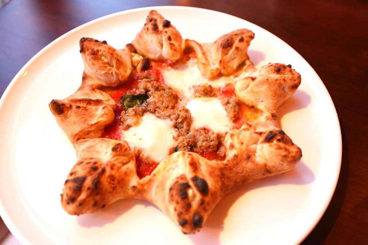 The star pizza at Brigantessa.