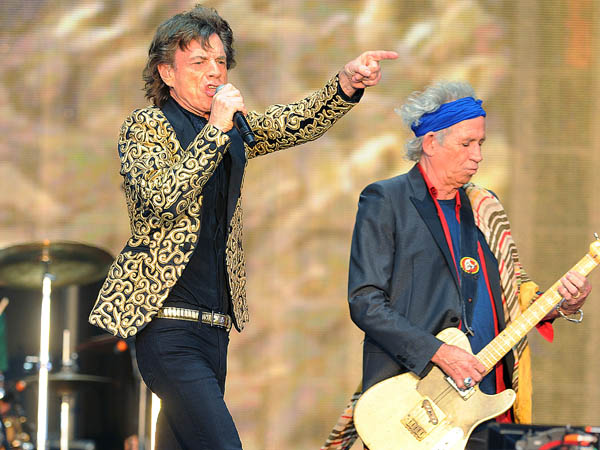 The Rolling Stones perform at Barclaycard Presents British Summer Time at Hyde Park in London on Saturday, July 13, 2013. (Photo by Mark Allan/Invision/AP)