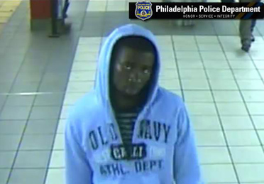 Police are searching for this man in connection with a shooting and armed robbery inside of a SEPTA train concourse in North Philadelphia. (Philadelphia Police photo)