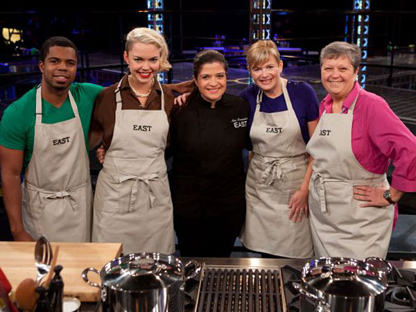 "Alex Guarnaschelli with her ""America´s Best Cook"" foursome (from left): Myles Powell, Hannah Gruber, Christina Verrelli and Brenda Jackson."