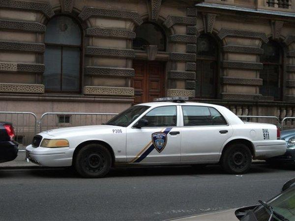 "A ""Philadelphia"" cop car on the set of ""World War Z"" in Glasgow, Scotland. Photo: Danuta McLaughlin"