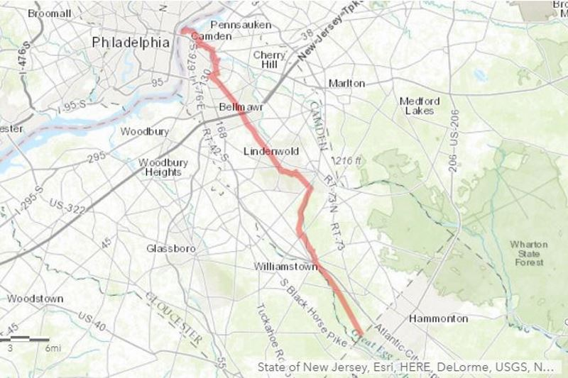 A 32-mile trail from Camden to the Atlantic County border could be completed by 2025.  And from there, activists hope, it could link all the way to Maine or Florida