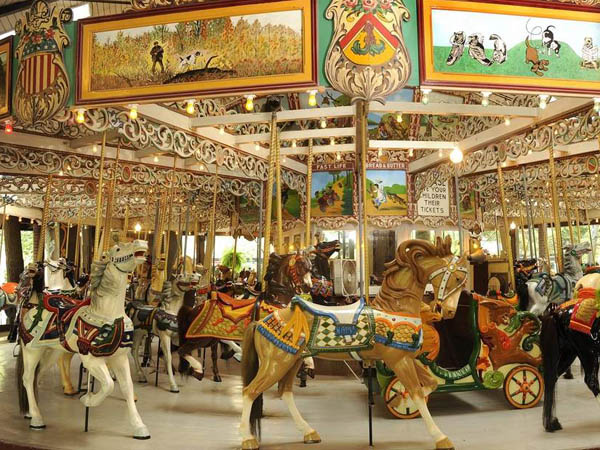 The Grand Carousel at Knoebels Amusement Park has turned 100 years old. (Photo by Terry Wild courtesy of Knoebels)