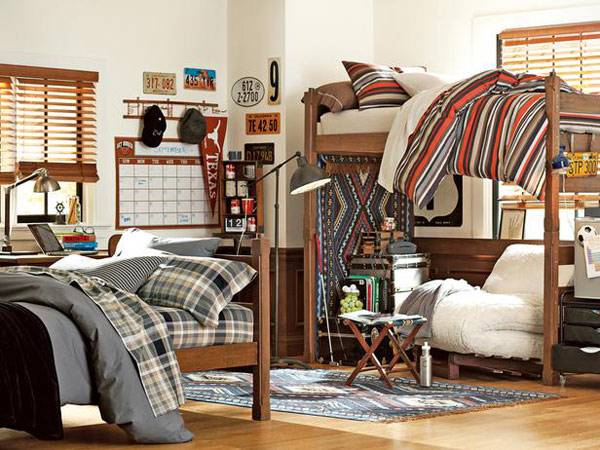 You can make your dorm cozy, functional and matching to you and your roommates personalities!