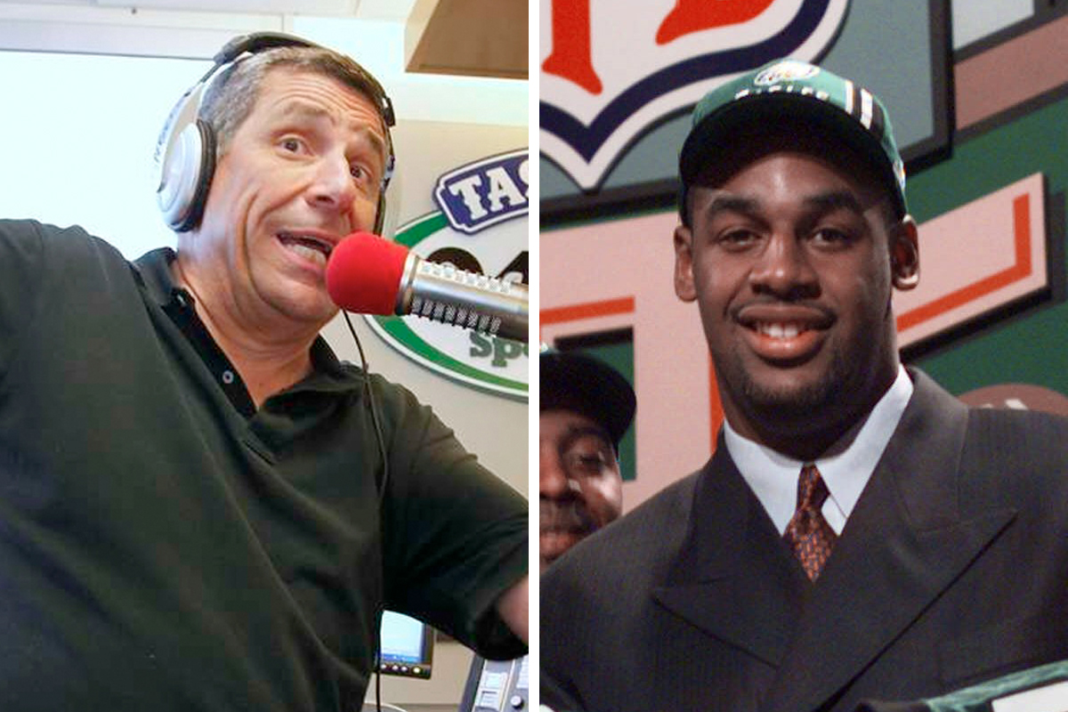 "SportsRadio 94.1 WIP host Angelo Cataldi (left) regrets organizing the ""Dirty 30"" to boo Donovan McNabb during the 1999 draft. But that doesn´t mean he´s a big fan of the former Eagles quarterback."