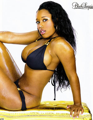 Catya Washington of Oxygen&acute;s &quot;Bad Girls Club.&quot;<br />Photo: Black Lingerie magazine