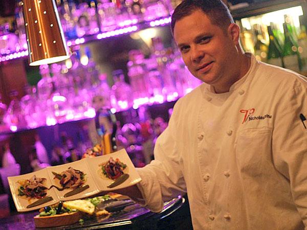 Nick Farina of Verdad with tacos.
