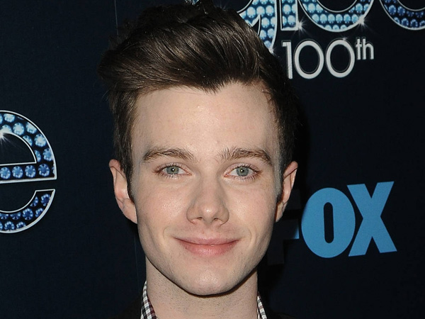 """Chris Colfer at the 100th episode celebration of """"Glee"""" at Chateau Marmont in West Hollywood."""