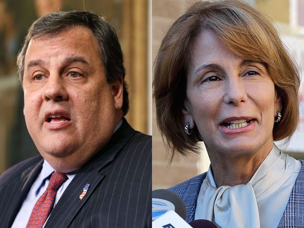 Chris Christie and Barbara Buono.