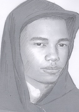 Police on Monday released this sketch of a man who held a woman at gunpoint and threatened to rape her in East Germantown on Thursday, Aug. 1. (Philadelphia Police)