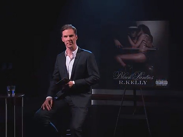 "Benedict Cumberbatch reads R. Kelly´s ""Genius"" on Kimmel."