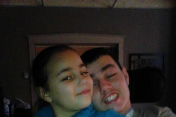 David Silva with his sister, Sierra.