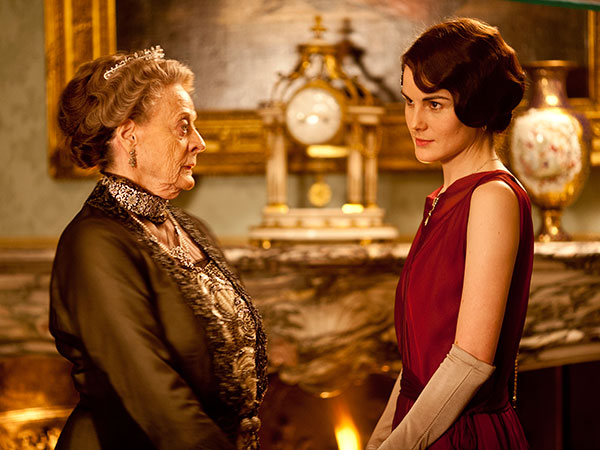 Maggie Smith as the Dowager Countess (left) and Michelle Dockery as Lady Mary in a scene from Downton Abbey. (Nick Briggs/Carnival Films)