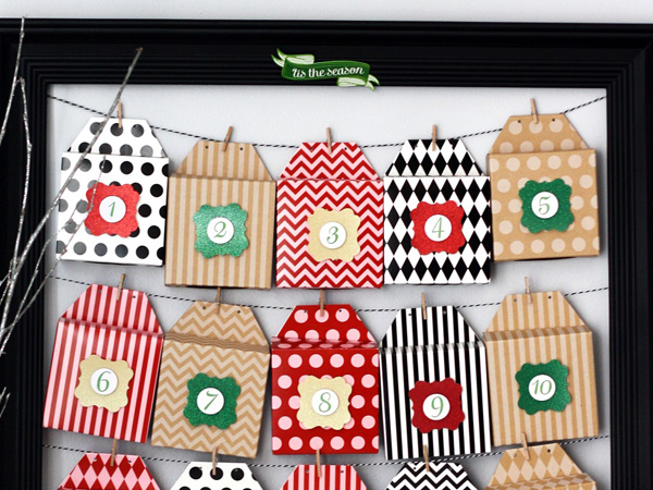 Make an easy DIY countdown to Christmas!