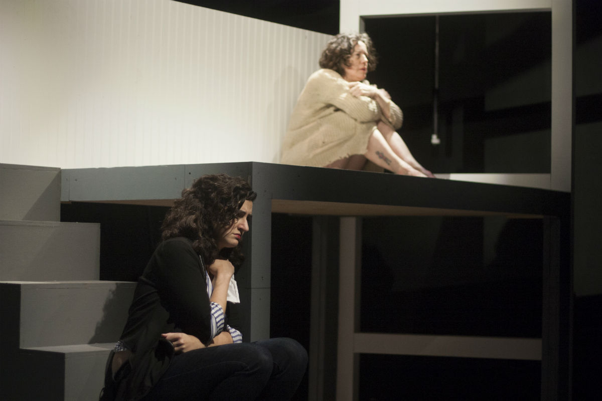 """Felicia Leicht (below) and Corinna Burns in the Inis Nua Theatre Company production of Stef Smith´s """"Swallow."""""""