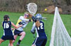 Annalise Davies of Springside School shooting against Hill School on Friday. Davies scored in the last minute to tie the game. Hill won 12-10 in overtime.