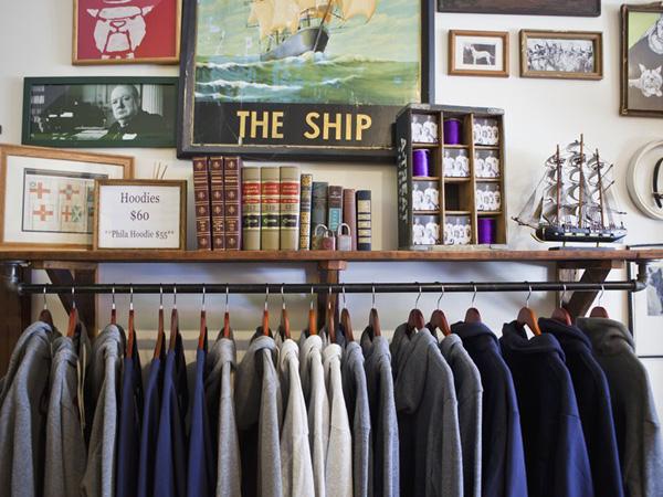 Inside Duke & Winston´s longtime Northern Liberties storefront.