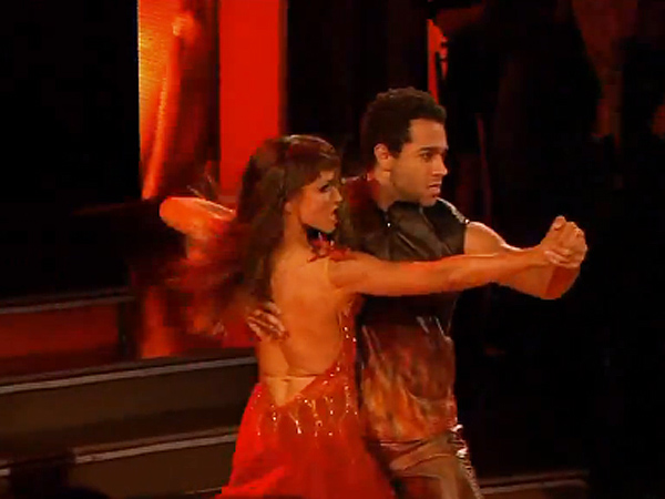 "Corbin Bleu & Karina Smirnoff do the tango during week 10 of ""Dancing with the Stars."""