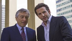"Robert De Niro and Bradley Cooper in ""Limitless."""