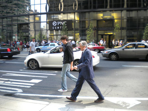 "Robert De Niro Thursday on set of ""The Dark Fields"" at 16th & Market. Photo: Abby Karasick"